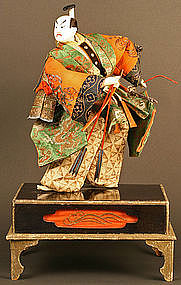 Edo Period Takeda Ningyo Portraying a Young Samurai