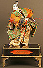 Edo Period Takeda Ningyo Portraying a Young Samurai