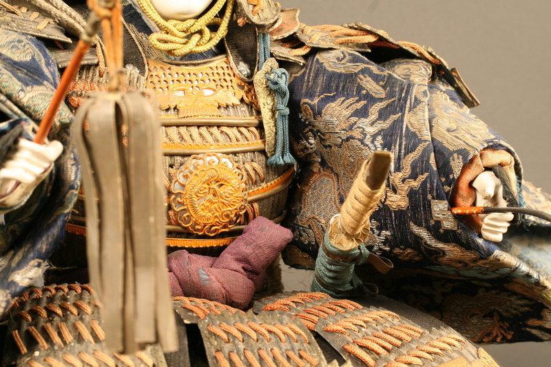 Late 18th Century Japanese Samurai Yoshitsune Doll