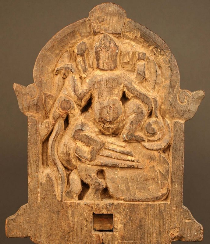 19th Century Indian Processional Panel from Tamil Nadu