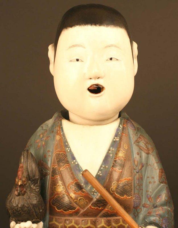 Very Rare and Fine Edo Period Saga Ningyo