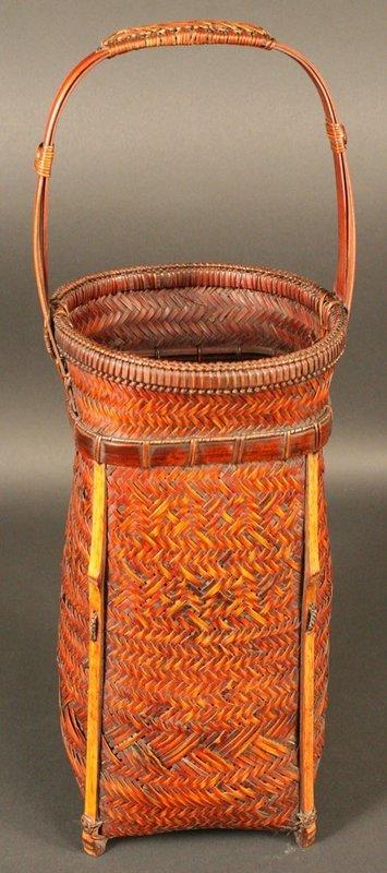 Japanese Antique Fishing Basket signed by Kazuhiro
