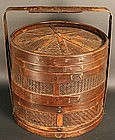 Antique Japanese Bamboo Steamer