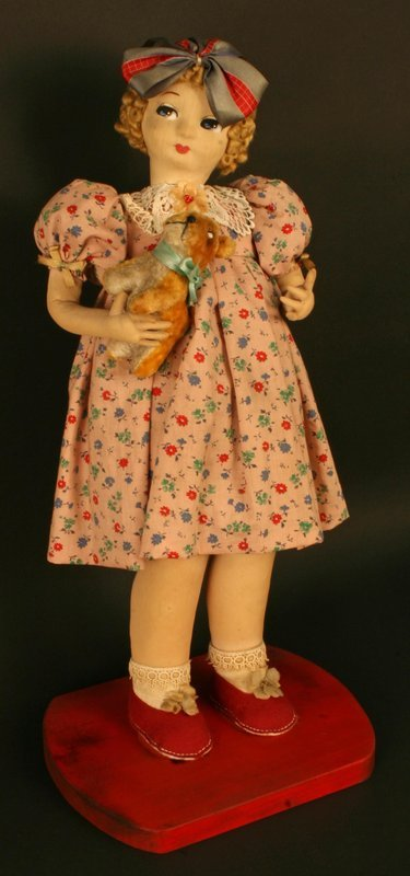 Japanese Doll of an American Girl with Her Dog