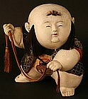 Gosho Ningyo Palace Doll Holding a Rope