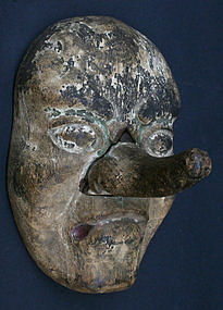 Edo Period Tengu Mask with Handle on Back