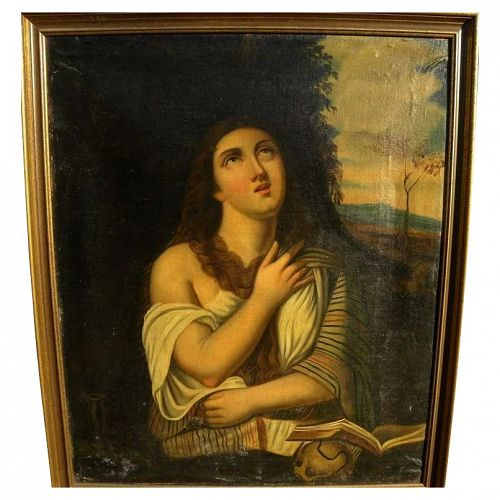 19th century painting religious art antique style of 16th century Old Master