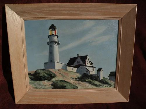 "After EDWARD HOPPER (1882-1967)  painting of ""Lighthouse at Two Lights"""