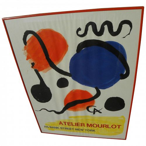 ALEXANDER CALDER (1898-1976)  lithograph poster 115 Bank Street printed by Mourlot