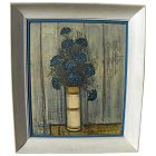 "After BERNARD BUFFET (1928-1999) framed vintage mid century color photographic print ""Blue Bouquet"""