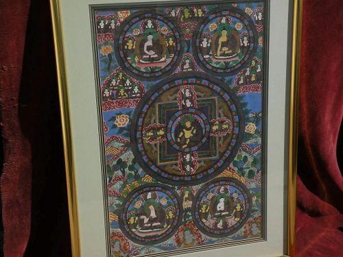 Asian art Tibetan large thangka painting