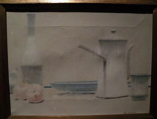 ANDRE GISSON (1921-2003) still life painting by noted French American listed artist