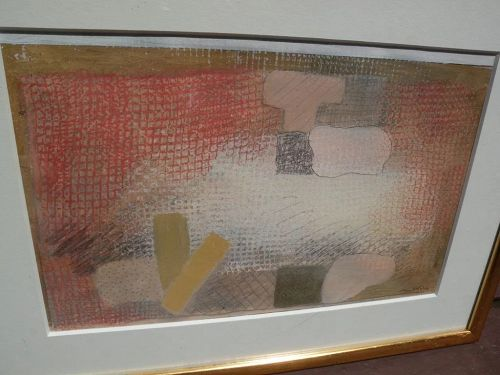 ROBERT NATKIN (1930-2010) mixed media drawing by the noted contemporary American abstract expressionist artist