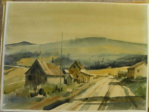 RITCHIE ALLEN BENSON (1941-1996) watercolor landscape painting
