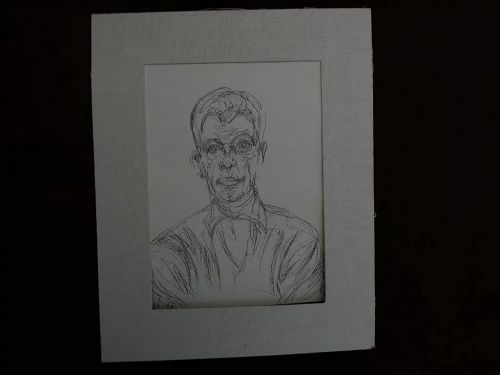 """ALBERTO GIACOMETTI (1901-1966) original unsigned lithograph print circa 1961 """"Diego"""" from """"Derriere Le Miroir"""" by Maeght"""