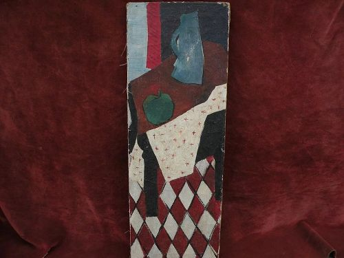 HENRI WORMSER (1909-) modernist mid century painting dated 1947