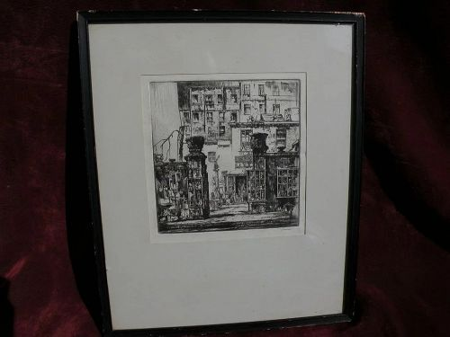 EARL HORTER (1881-1940) pencil signed original etching print by noted American artist