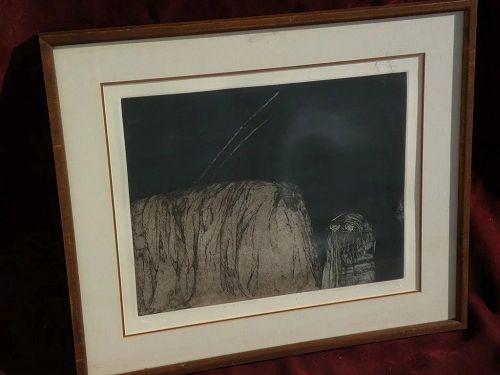 "AMADO MAURILLO PENA (1943-) New Mexico Arizona art limited edition pencil signed print ""Pareja con Kiva"""