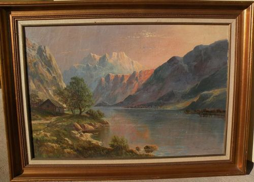European landscape art oil painting signed DAVID DUNDAS