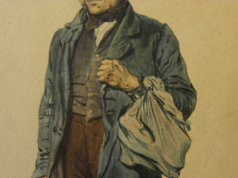 JEAN LOUIS-ERNST MEISSONIER (1815-1891) French watercolor painting