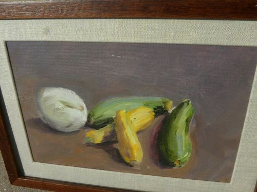 American contemporary vegetables still life painting
