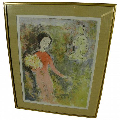 VU CAO DAM (1908-2000) Vietnamese art pencil signed limited edition lithograph