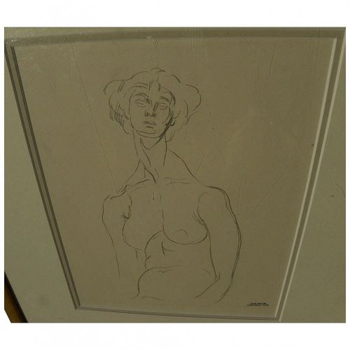 CECIL BEATON (1904-1980) original pencil drawing of a woman by the famous English artist, photographer and designer