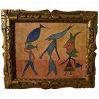 Surrealist modern painting in style of Romanian artist Victor Brauner (1903-1966)