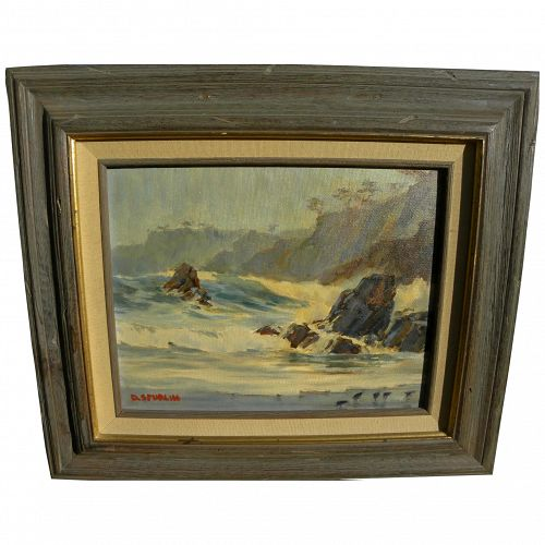 DAVID SPURLIN JR. (1923-2009) impressionist coastal landscape painting