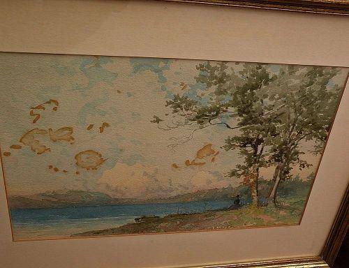 GEORGE HERBERT McCORD (1848-1909) original watercolor landscape painting by noted American artist