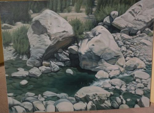 """CHUCK CAPLINGER Southwest art original painting """"Slow Water"""" by acclaimed contemporary California gallery artist�"""