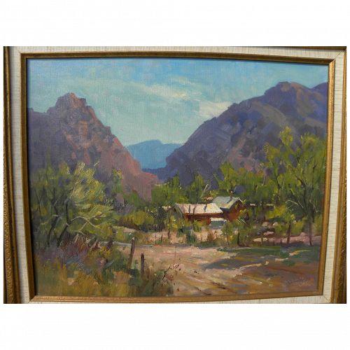 PAUL STRISIK (1918-1998) Southwestern landscape painting by the American plein air artist