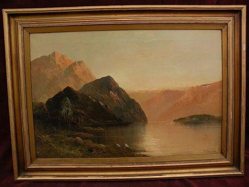 FRANK E. JAMIESON (1834-1899) Scottish art Highlands Loch landscape painting