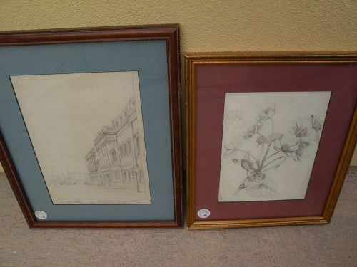 THOMAS SHOTTER BOYS (1803-1874) **pair** of pencil drawings by important English 19th century artist
