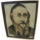 """MANE-KATZ (1894-1962) watercolor drawing """"The Cantor"""" by the major Jewish artist"""