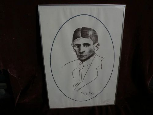 """CARL FREDRIK REUTERSWARD (1934-2016) pencil signed and inscribed lithograph """"KAFKA"""" by noted Swedish pop artist and sculptor"""