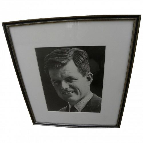 Ted Kennedy autographed inscribed early (mid 1960's) photo