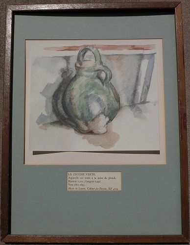 After PAUL CEZANNE (1839-1906) still life print limited edition 1971 by Abraham Bornstein