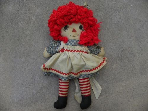 Raggedy Ann doll vintage circa 1950's