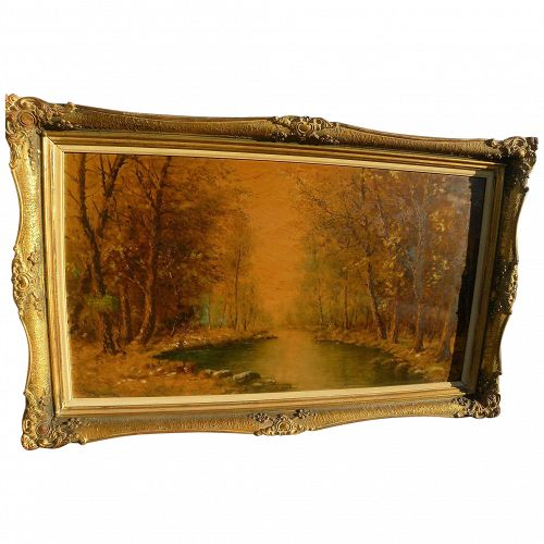 Russian or Ukrainian impressionist landscape painting signed
