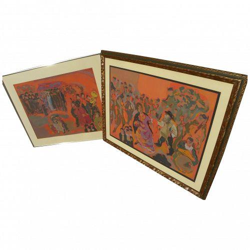 MANE-KATZ (1894-1962) **pair** Jewish artist  lithograph prints
