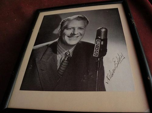 Hollywood memorabilia NELSON EDDY possibly secretarial signature signed black & white photo circa 1940's