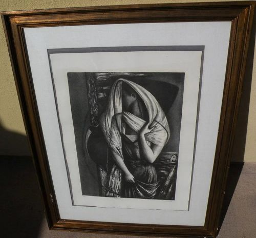 "BENTON SPRUANCE (1904-1967) pencil signed limited edition 1946 print ""Ecclesiastes IV"""