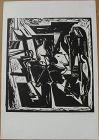 HANS BURKHARDT (1904-1994) signed numbered print by important Swiss-born California modern artist