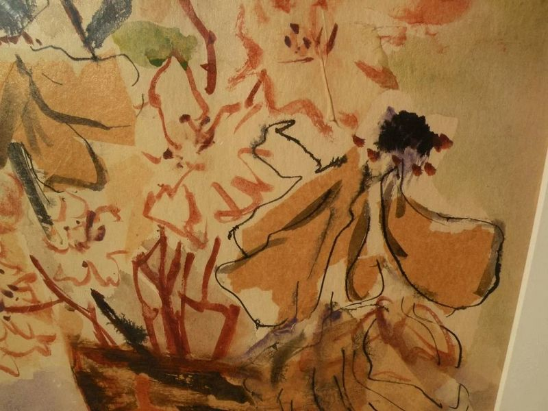 CHINYEE contemporary Asian-American art 1970 watercolor still life painting by well exhibited artist
