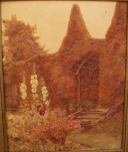 English watercolor of Sussex style of Stannard family watercolorists