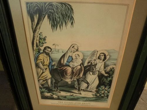 Circa 1850 American lithograph by James Baillie in style of Currier and Ives