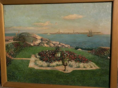 American impressionist art early 20th century painting Thatcher Island lighthouses Massachusetts