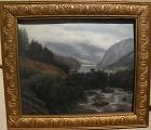Landscape painting� likely by Welsh artist dated 1904 signed with initials