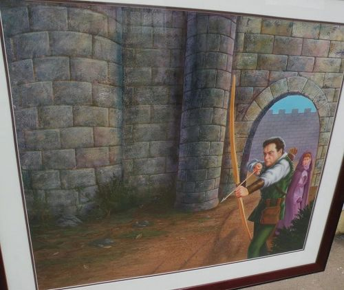 COREY WOLFE fine large contemporary illustration art painting by Disney artist